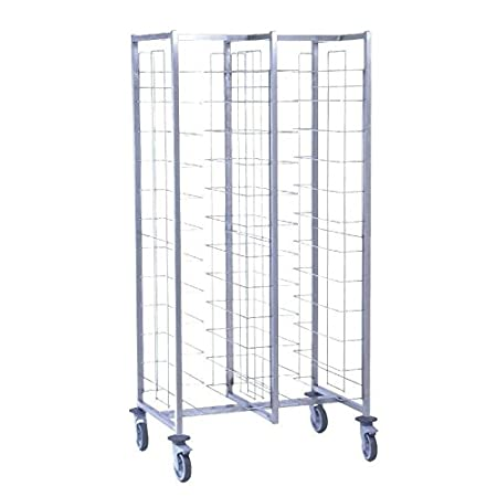 Heavy Duty 24 Level Self Clearing Food Tray Trolley - Commercial Kitchen School Hotel Hospital Bakery Canteen Restaurant Food Service Trolley Cart