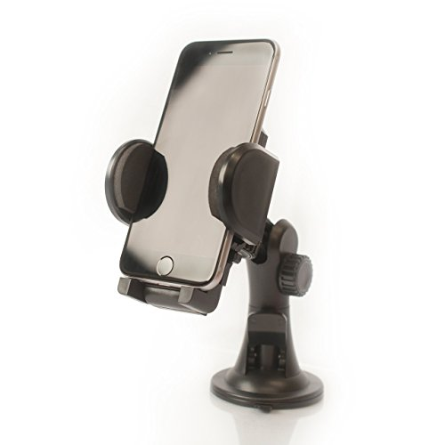 ZOHM TECH - Car Mount Adjustable Dash and Windshield Cellphone Holder - Ideal for Smartphones, GPS, and other Mobile Devices