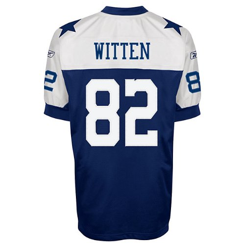 Reebok Dallas Cowboys Throwback Authentic Jersey - Witten 60 Dark Navy at Amazon.com