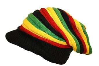 Bonnet casquette rasta à visière plusieurs couleurs disponibles