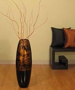 ... Floor Vase & Branches - Dark Gold Swirl & Black: Home & Kitchen