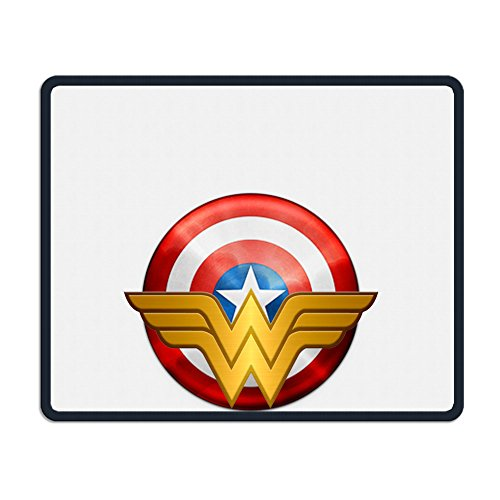 [TANGDANMEI Captain America Wonder Woman Logo Mouse Pads Textured Surface] (Easy To Make At Home Superhero Costumes)