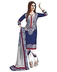 SalwarSaloon Women Salwar Suit Dupatta Cotton Dress Material(arvi-1501_FO_Blue)