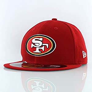 NFL San Francisco 49Ers On Field 5950 Game Cap, 49Ers Red, 7 3/8