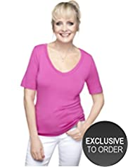 Twiggy for M&S Woman Deep V-Neck Top