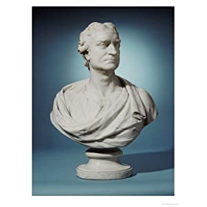 English White Marble Bust of Sir Isaac Newton (1643-1727) Stretched Canvas Poster Print