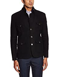 Pepe Jeans Men's Regular Fit Blazer (8903872643509_CORTINA LS_Small_Black)