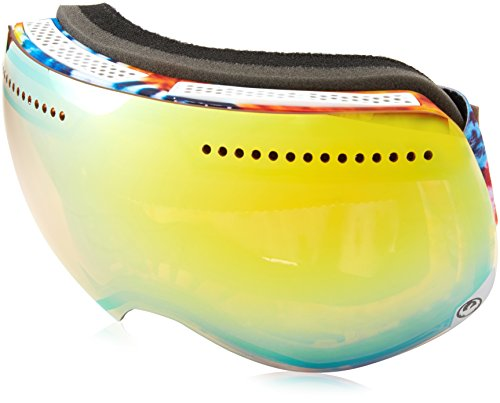 Dragon Alliance Advanced Project X Ski Goggles, Tie Dye/Gold Ion + Yellow Blue Ion