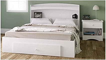 Contemporary Storage Bedroom Set in White