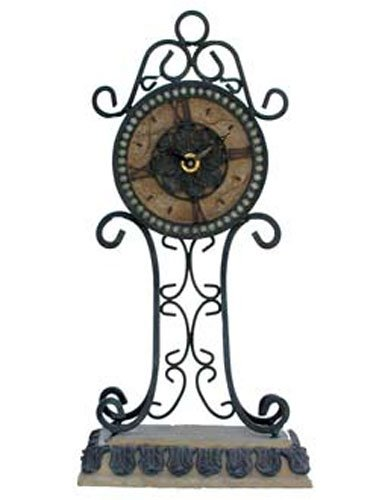 Iron Clock Mantle Decorations [41223A]