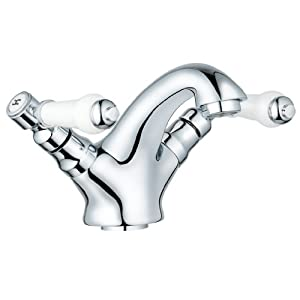 Traditional Chrome Bathroom Basin Sink Mixer Taps & Pop Up ...