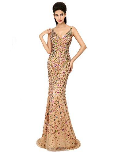 34d5c76acf Favebridal Women s Long Stunning Mermaid Cocktail Dress Evening Gown  AJ016CE-2