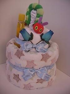 Very Hungry Caterpillar Baby Boy luxury 2 Tier Nappy Cake