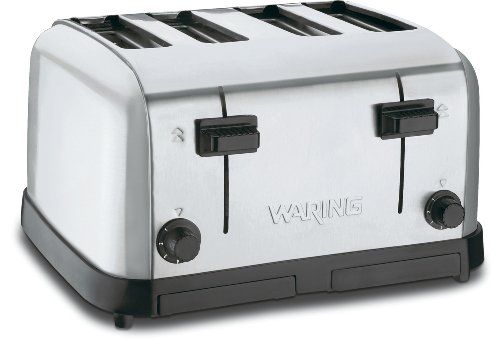 Waring Commercial Wct708 Medium Duty Brushed Chrome Steel Toaster With 4 Slots front-625656