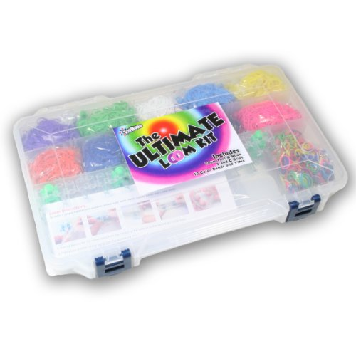 The Ultimate Loom Kit - 6,600 Bands, Loom & Hook, Both S & C Clips, and Storage Case!!! - 1