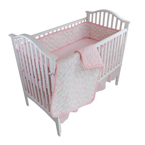 Tadpoles Pink Toile 4 Piece Crib Bedding Set front-224769