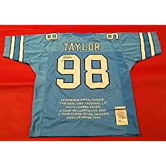 Lawrence Taylor Signed Jersey - Unc Stat Lt Last - JSA Certified - Autographed...