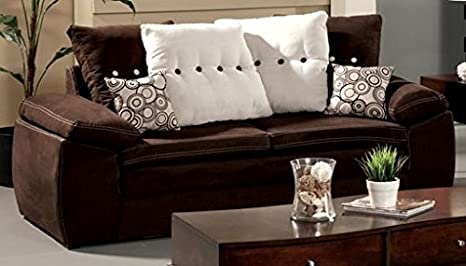 Lapis Sofa with Pillows by Furniture of America