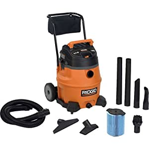 Ridgid 31693 WD1851 16 Gallon 6.5 HP Wet/Dry Vacuum with Cart