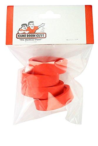 Set of 4 Red Pinball Flipper Rubber - 1.5