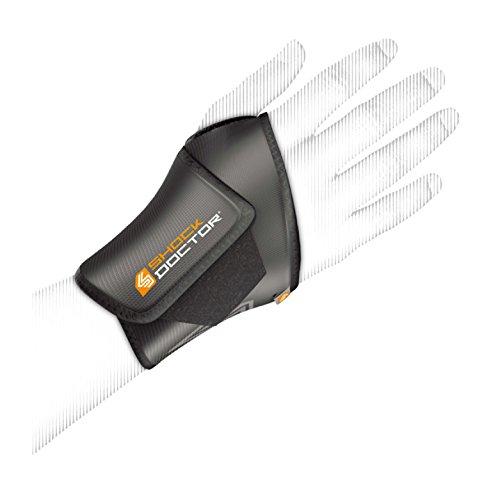 ShockDoctor Erwachsene Handgelenkschützer Handgelenkbandage, Black, One Size, 820-BK