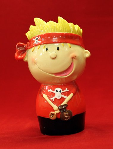 "5"" Whimsy Pirate Coin Piggy Bank - 1"