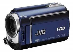 JVC GZ-MG330A Caméscope numérique hybride disque dur 30 Go et mémoire flash  zoom optique 35x bleu