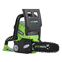 Greenworks 20272 24V Cordless Lithium-Ion 10 in. Chain Saw (Bare Tool)