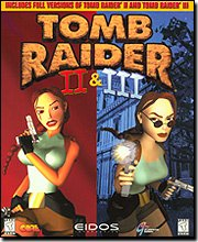 Tomb Raider II & III Bundle - Rare PC Game Box