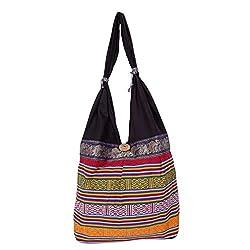Womaniya Shoulder Bag (Black) (Handicraft Jhola Bag)