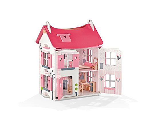 Janod-Mademoiselle-Doll-House-with-Furniture
