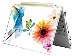 Bundle Monster MINI NETBOOK Laptop Notebook Skin Sticker Cover Art Decal - 7 8 9 10 - Fit HP Dell Asus Acer Eee Compaq MSI - Colorful Flower