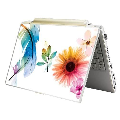 Bundle Monster MINI NETBOOK Laptop Notebook Skin Sticker Cover Art Decal   7 8 9 10   Fit HP Dell Asus Acer Eee Compaq MSI   Colorful Flower