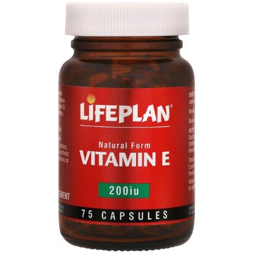 Lifeplan 200 iu Vitamin E 75 Capsules