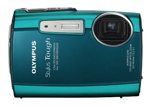 Olympus Stylus Tough 3000 12 MP Digital Camera with 3.6x Wide Angle Zoom and 2.7-inch LCD (Green)