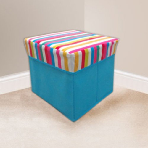 Beam Feature Novelty Square Stripe Storage Stool, 30 X 30Cm FREE DELIVERY
