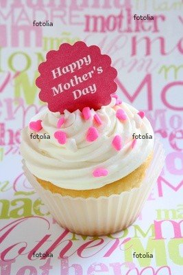 Wallmonkeys Peel and Stick Wall Graphic - Mothers Day Cupcake - 36