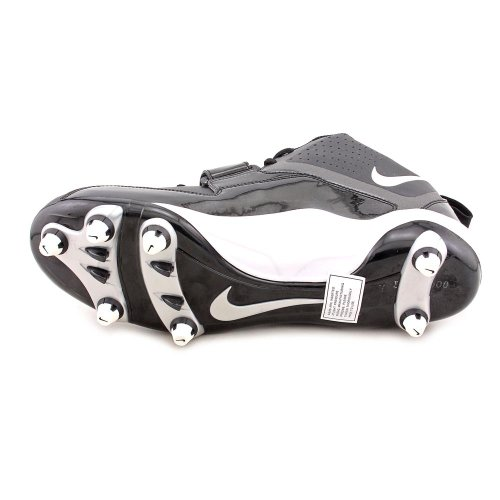 pictures of Nike Zoom Code D Mens Black/White Mid Top Football Cleats
