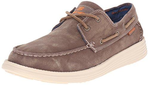 Skechers Usa Men S Status Melec Boat Shoe Charcoal  D