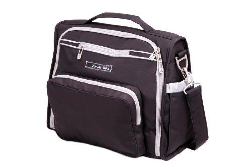 Ju-Ju-Be B.F.F. Diaper Bag, Black/Silver front-954566