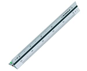 Pocket Size 15cm Aluminium Triangular Scale Ruler 1 2 5 1
