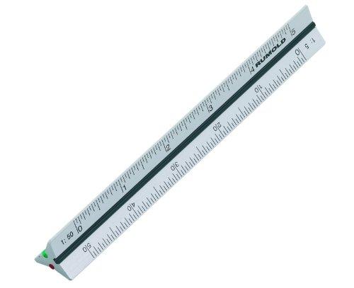 """10Cm 4"""" Metric Pocket Size Aluminium Aluminum Triangular Scale Ruler 1:2.5 1:5 1:10 1:20 1:50 1:100"""