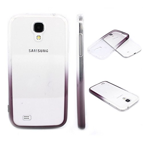 S4 Case, Samsung S4 Case,Galaxy S4 Case ,BAISRKE Clear and Black Gradient TPU Soft Edge Bumper Case Rubber Silicone Skin Cover for Samsung Galaxy S4 I9500 I9505 SPH-L720 SGH-I337 SCH-I545 SGH-M919 (S4 Bumper Case compare prices)
