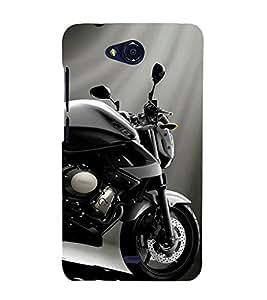 Excellent Bike 3D Hard Polycarbonate Designer Back Case Cover for Micromax Bolt Q335