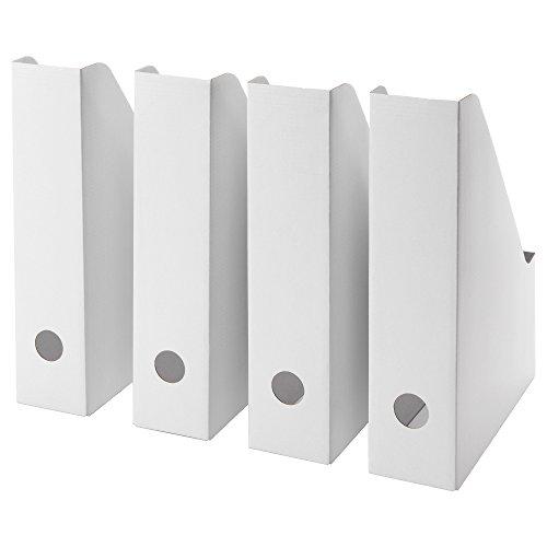 Ikea Fluns Magazine file, White (Set of 8)