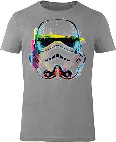 GOZOO Star Wars T-shirt Uomo Imperial Stormtrooper NEON Sketch Art 100% Cotone, Stampa di Alta Qualitá M
