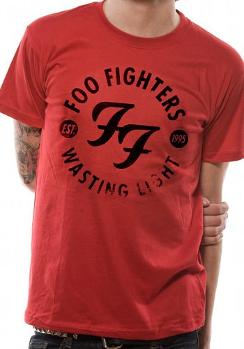 Collectors Mine - Foo Fighters - Wasting Light, T-shirt da uomo, manica corta, collo rotondo, rosso(rot (rot)), taglia S
