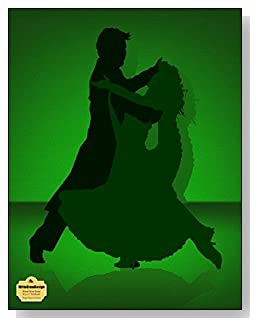 Tango Dance In Green Notebook - Love to dance? Love to Tango? Couple dancing the Tango in a green and black color scheme grace the cover of this blank and wide ruled notebook with blank pages on the left and lined pages on the right.