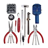 18 in 1 Watch Repair Tool kit - set includes screwdrivers, Case Opener, wrist strap adjust tools and link removal tool