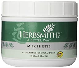 Herbsmith Milk Thistle Herbal Supplement for Dogs and Cats, 500gm Powder